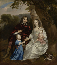 Govert van Slingelandt (1623-90), Lord of Dubbeldam, with his First Wife Christina van Beveren and the Two Sons