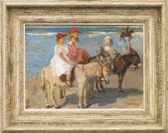 schilderijen kind bij strand