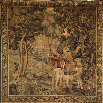 Tapestry depicting a Hunting Scene
