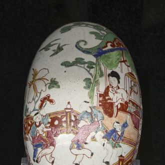 Borstelrug met chinoiserie-decor