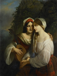 Two Women in Italian Costume
